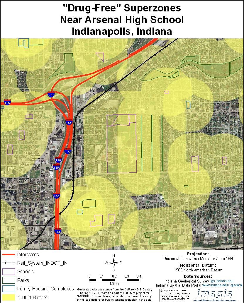 Indiana's Drug-Free Zone Laws: Neighborhood Impact Maps on